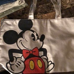 Handbags - Metallic Silver Mickey Bag